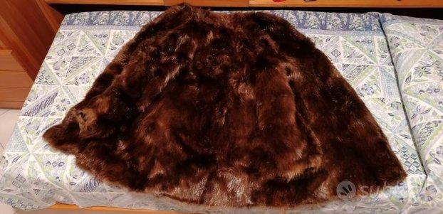 Pelliccia di castorino 3/4 marrone scuro