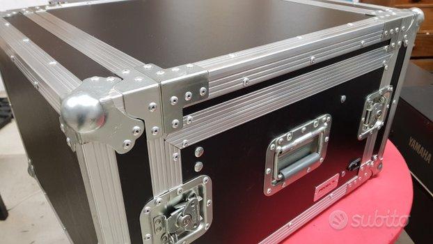 Proel flight case 6 unità con supporto mixer
