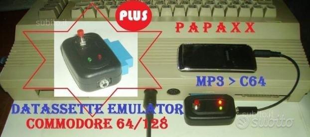 Datassette emulator plus da mp3 a commodore 64 c64