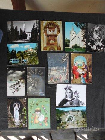 Cartoline con immagini sacre chiese e auguri