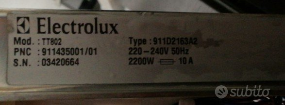 Lavastoviglie REX TT802 per ricambi usati
