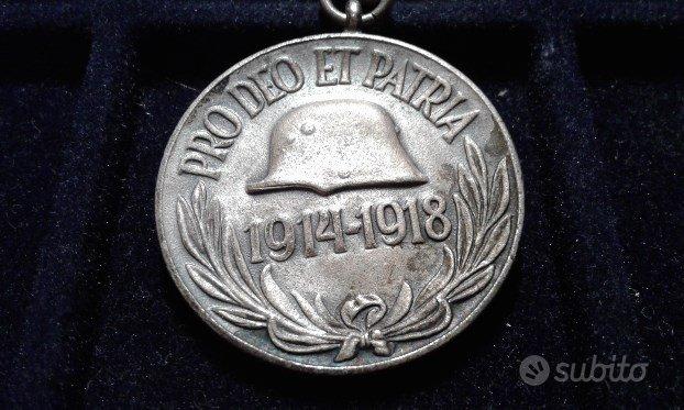 Medaglia UNGHERIA WW1 PRO DEO ET PATRIA Argento