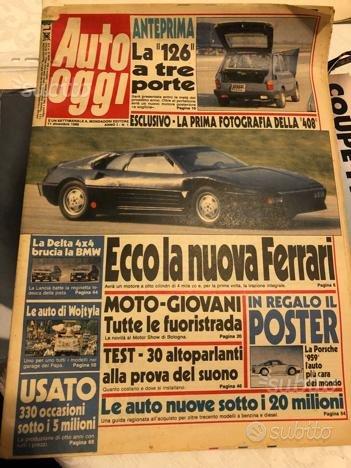 Auto oggi n1 poster cataloghi manuali