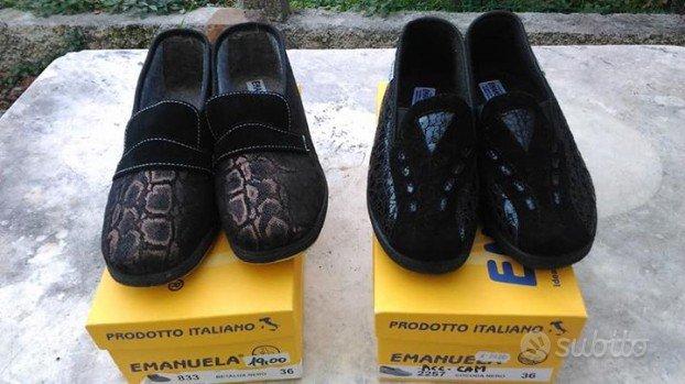 Scarpe comode pantofole Emanuela donna n. 36