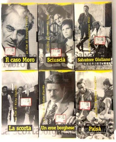 6 VHS Film, Storie d'Italia de l'Unità sigillate