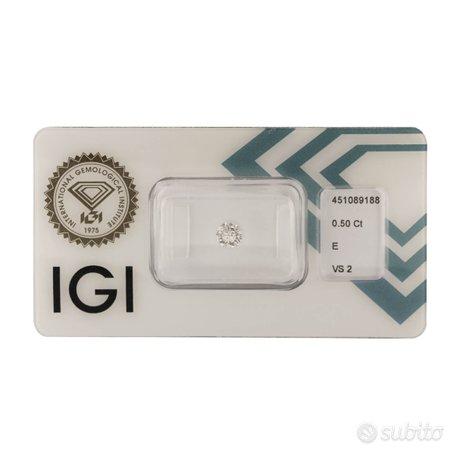 Diamante certificato IGI 0,50 ct