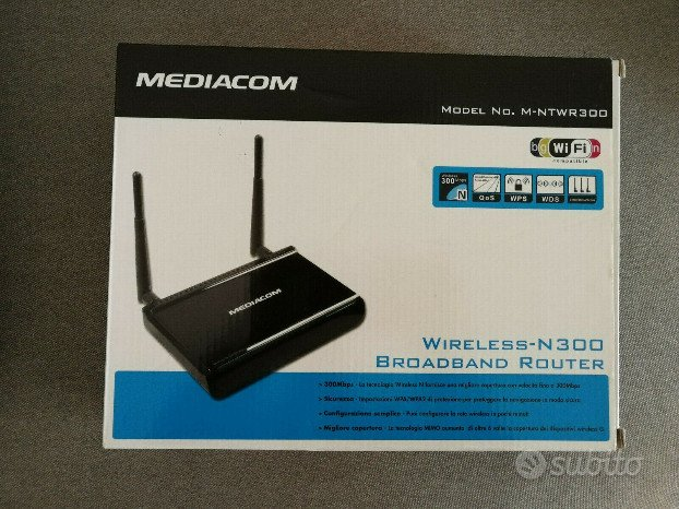 Router MEDIACOM M-NTWR300 300mbps Wireless-n