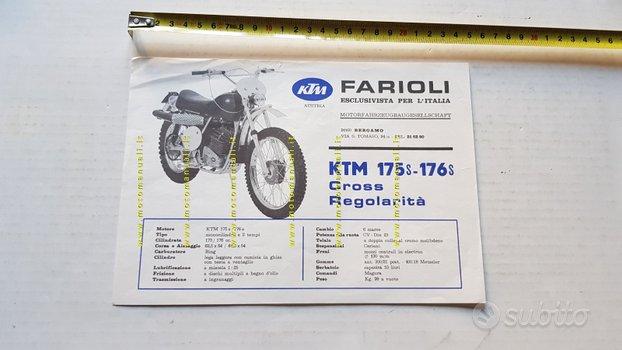 KTM Penton 175-176 S 1971 regolarità depliant moto