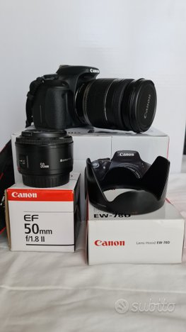 Canon eos 600d 18-200 is 50 f1,8