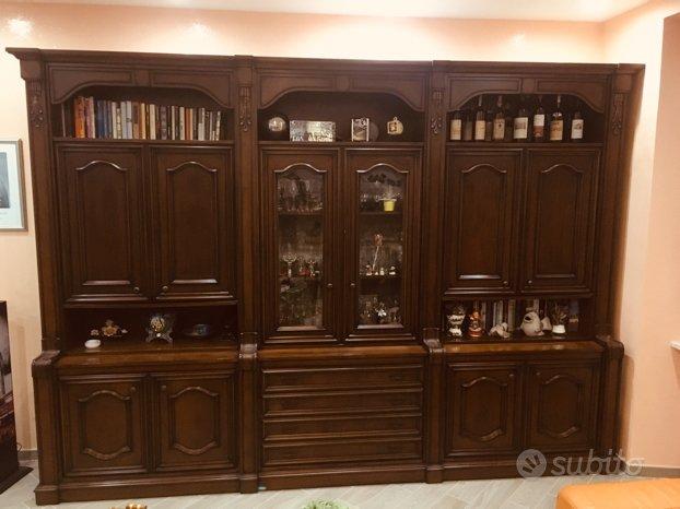 Salotto Legno Massello colore Noce Scuro - Arredamento e Casalinghi ...