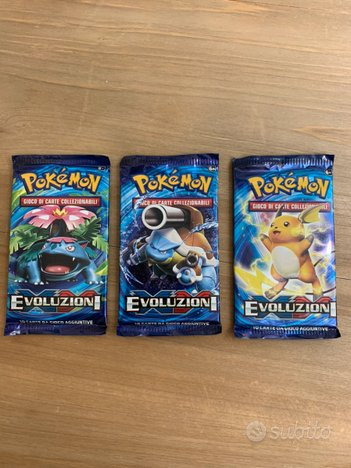 3 Artwork Pokemon XY Evoluzioni Ita Sealed