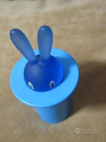 Alessi portastuzzicadenti magic bunny blu,Stefano GIOVANNONI