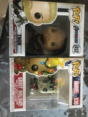 Funko pop thor end Game e babygroot Natale