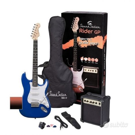 Kit chitarra elettrica + amplif + accessori