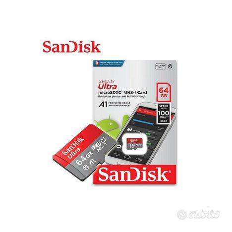 MicroSD SanDisk Ultra 64GB con adattatore
