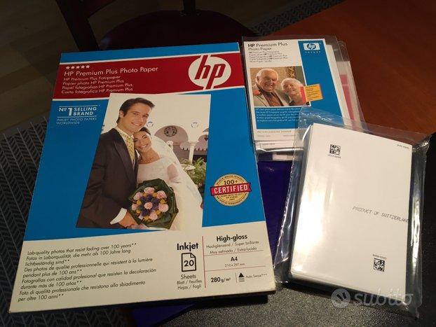 Carta fotografica HP Premium Plus A4 e 10x15