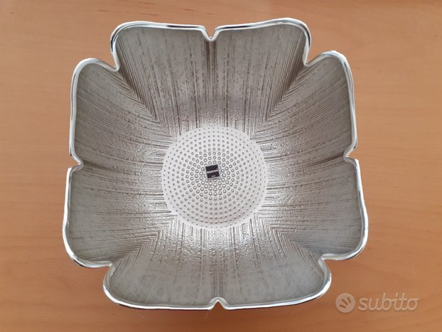Centrotavola Argenesi argento e vetro,De Padova