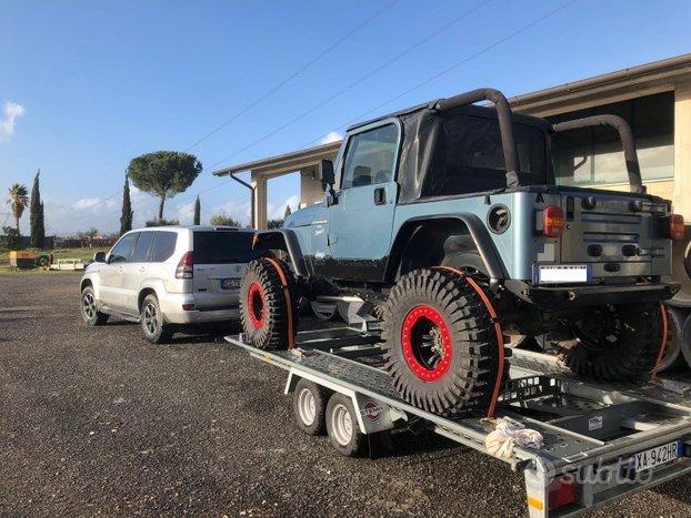 Carrello rimorchio per trasporto Jeep, 4x4
