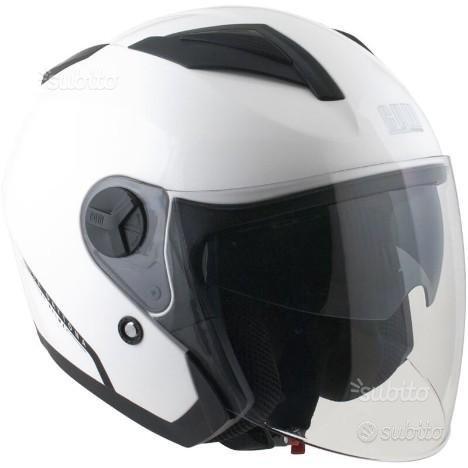 Casco Jet Cgm Daytona doppia visiera bianco lucido