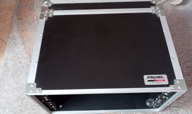 Flight case Proel 5u, doppia apertura