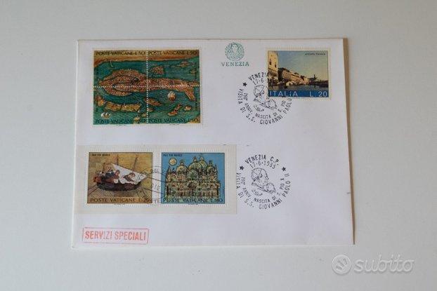 Busta con annullo filatelico Venezia 1985