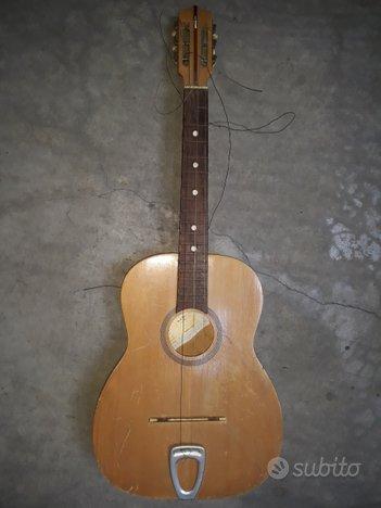 Chitarra acustica vintage meazzi 1962