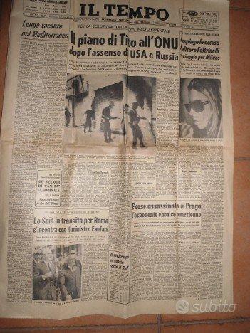 IL TEMPO - Giornale di Martedì 22 agosto 1967