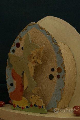 Lampada da collezione legno e pergamena