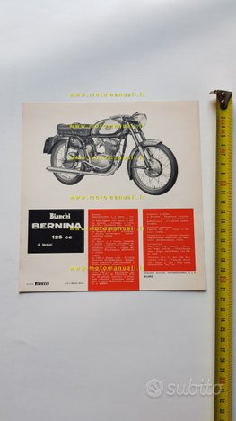 Bianchi 125 Bernina anni 60 depliant moto original