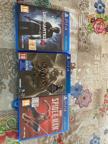 Uncharted 4,Batman SPECIAL EDITION,Spiderman PSP 4