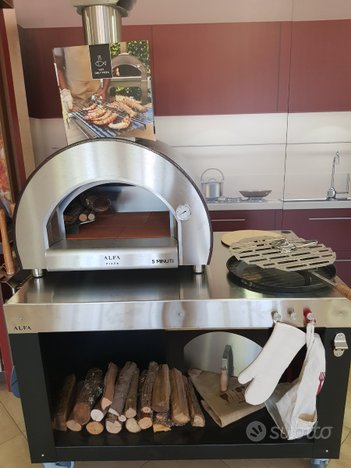 Forno legna gas alfa refrattario inox pizza fiera