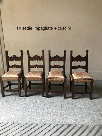 Bellissime sedie in legno massello, impagliate ...