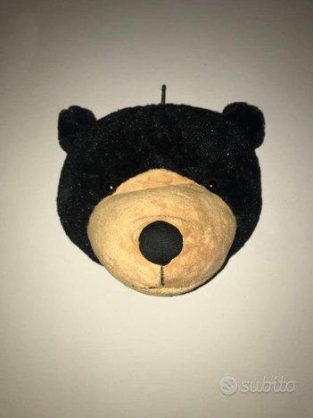 Peluche testa orso appesa (tipo WILD&SOFT)