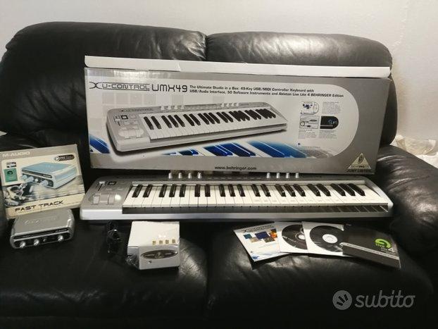 Tastiera midi behringer + scheda audio m audio