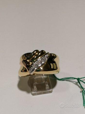 Anello bicolore oro e diamanti