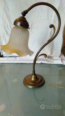 Lampada artistica ferro battuto