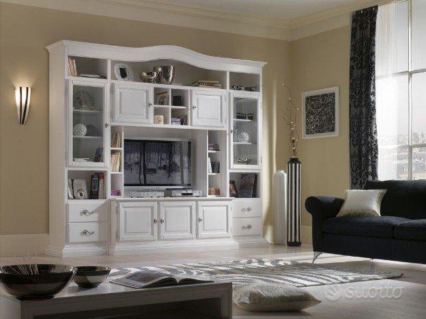 Parete attrezzata, libreria porta tv per soggiorno - Arredamento e ...