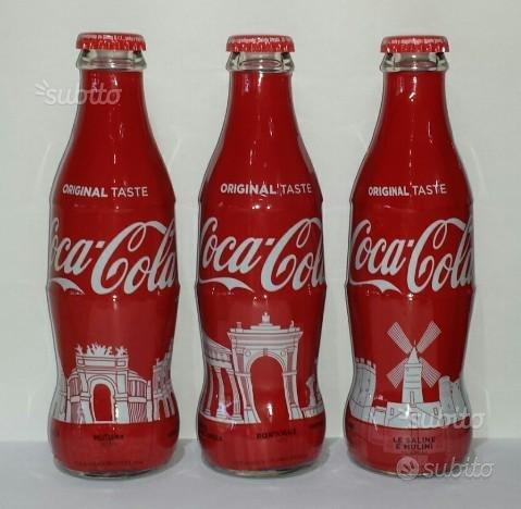 Coca cola 3 bottiglie 2017 Monumenti Siciliani