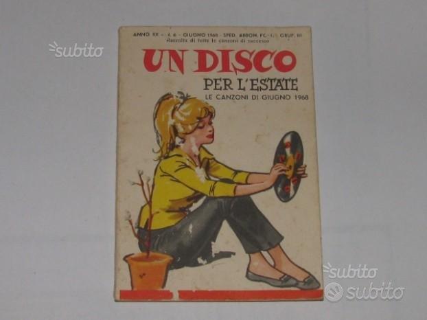 Un disco x L'Estate 1968 libricino