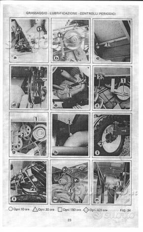 Manuale di uso e manutenzione Laverda M92 e M92 AL: libri ...