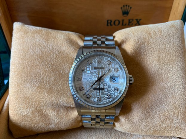 Rolex Datejust 16220 con diamanti