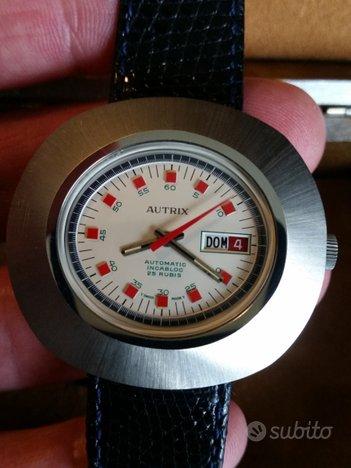 Orologio Autrix automatico acciaio vintage