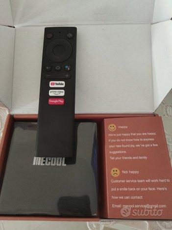 TV box Mecool KM1 Android TV 10 Certificato Google