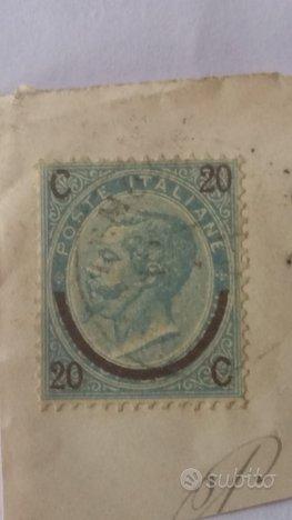 Francobollo anno 1865 da 20 centesimi