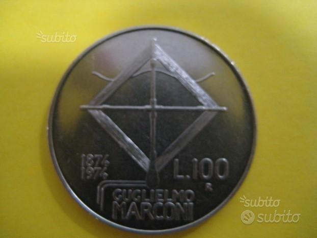 100 Lire Guglielmo Marconi 1974 Rif. 204