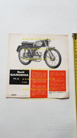 Bianchi Gardena 75 1963 depliant moto originale