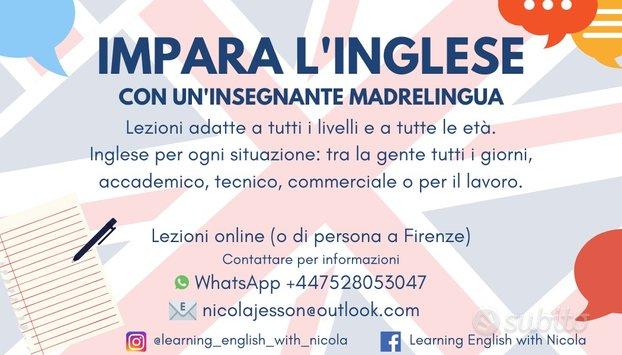 Impara l'inglese con un'insegnante madrelingua
