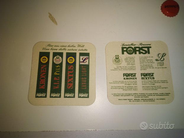 Sottobicchieri birra Forst