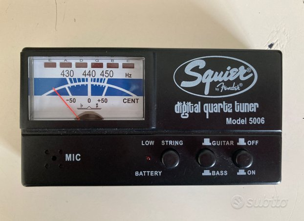 Accordatore Squier by Fender per chitarra e basso