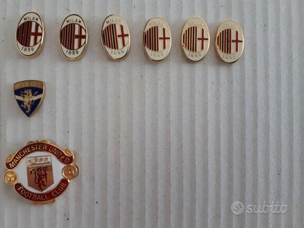 Calcio pin spilla badge milan-man.utd-brescia